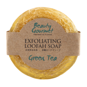 Exfoliating Loofah Soap Green Tea 100gr